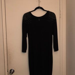 H&M Sweater dress with gold beads